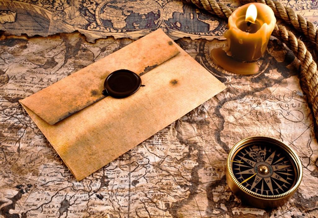 118439_stara_mapa_kompas_linka_list_swieca